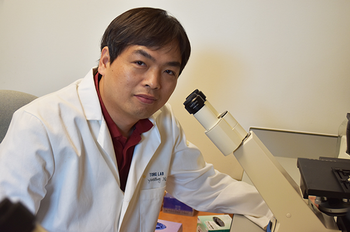 Photo of UTHealth's Yuanzhong Xu, PhD (Photo by Rob Cahill/UTHealth)