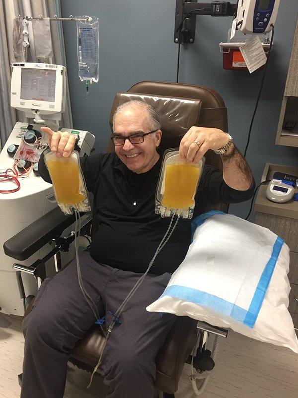 Jose Abdelnoor, 71, donates his antibody-rich plasma after surviving COVID-19. (Photo credit: Jose Abdelnoor)