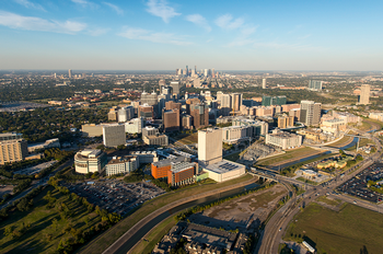 Aerial image of the Texas Medical Center