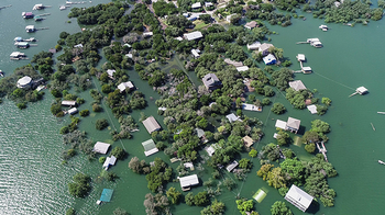 Photo of flooding in Texas. Photo by Getty Images.