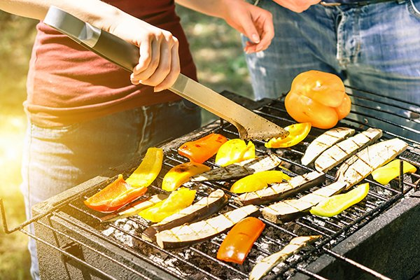 Photo of vegetables on grill. Photo credit is Getty Images