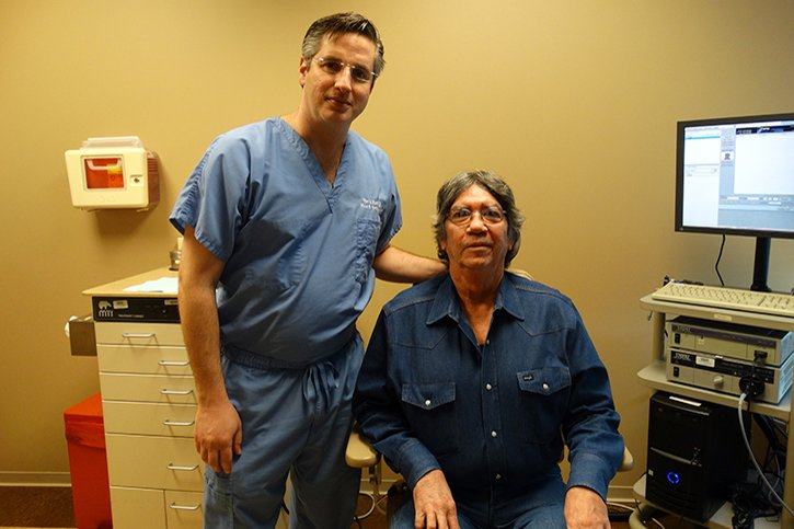 Ron Karni, MD, and patient Carey Hatfield