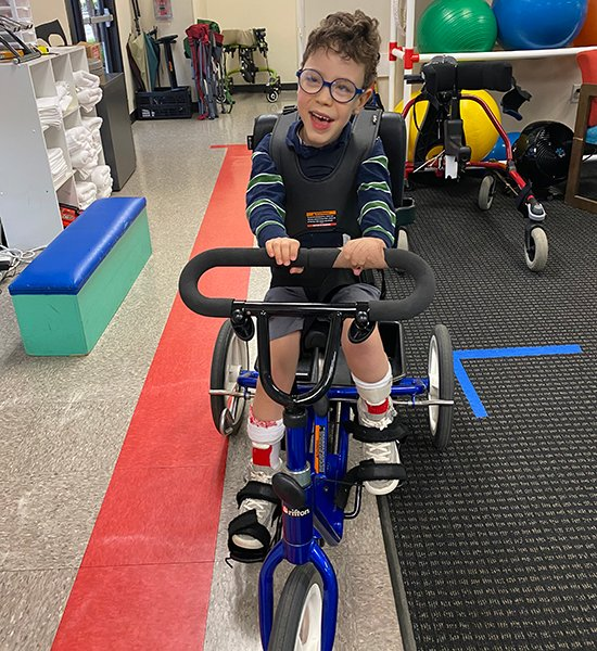 image from Boy with cerebral palsy is thriving with help from specialized clinic and multidisciplinary team