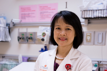 Photo of Poyee Tung, MD, the medical director of the Adult Congenital Heart Disease Program  at UTHealth (Photo by Maricruz Kwon/UTHealth)