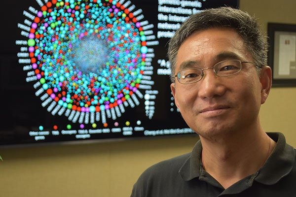 Photo of Zhongming Zhao, Ph.D. UTHealth Zhongming Zhao, Ph.D., is using genomic data to fight cancer. PHOTO CREDIT: Rob Cahill, UTHealth