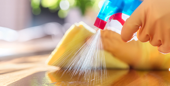 Common kitchen and bathroom surfaces should be cleaned frequently. (Photo courtesy of Getty Images)