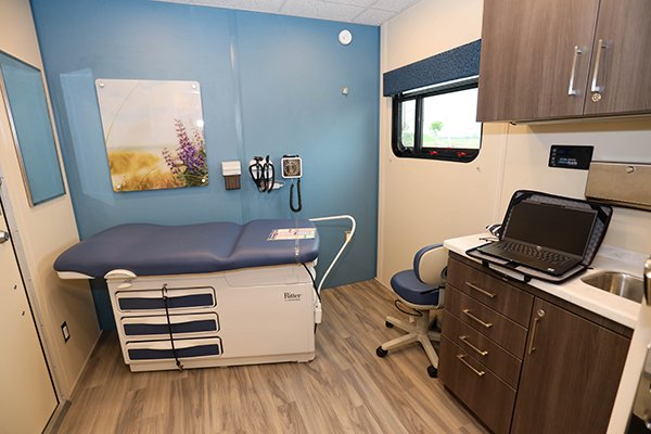 The mobile unit will provide 'one-stop' care for treatment, prevention, and recovery services.