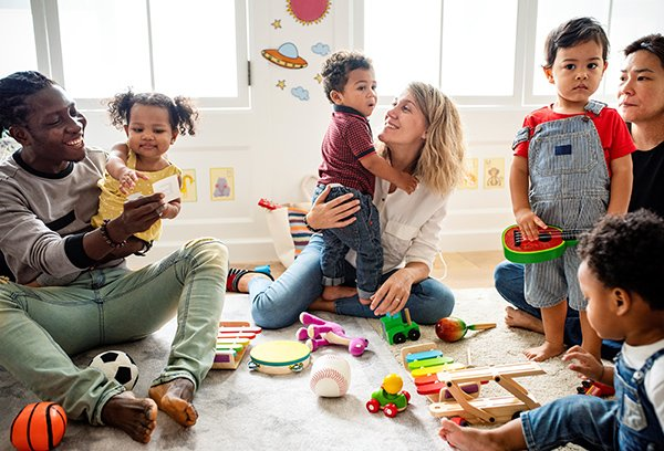 Photo of Melissa Goldberg, PsyD, recommends forming or joining an anti-racist play group to help children develop positive attitudes to different racial groups. (Photo credit: Getty Images)