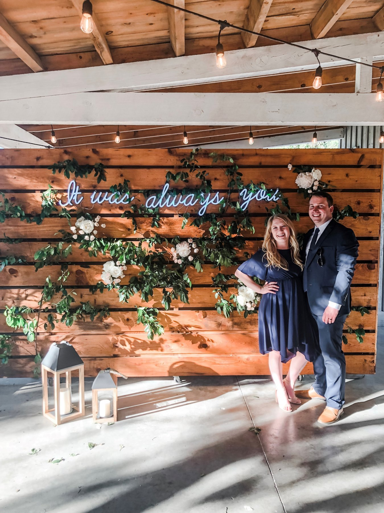 Brandon and Wendi pictured at a wedding in 2019. (Photo credit: Wendi Hawthorne)