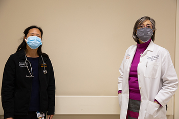 Jessica Lee, MD, left, and Carmel Dyer, MD, right. (Photo by: UTHealth)