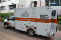 Photo of the UTHealth mobile stroke unit. (Photo by UTHealth)