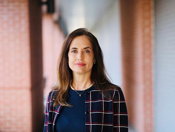 Jane Hamilton, PhD, investigates characteristics of high utilizers for mental health hospital services. (Photo credit: Cody Duty/UTHealth)