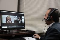 An image of Dr. Ricardo Mosquera during a telemedicine visit.