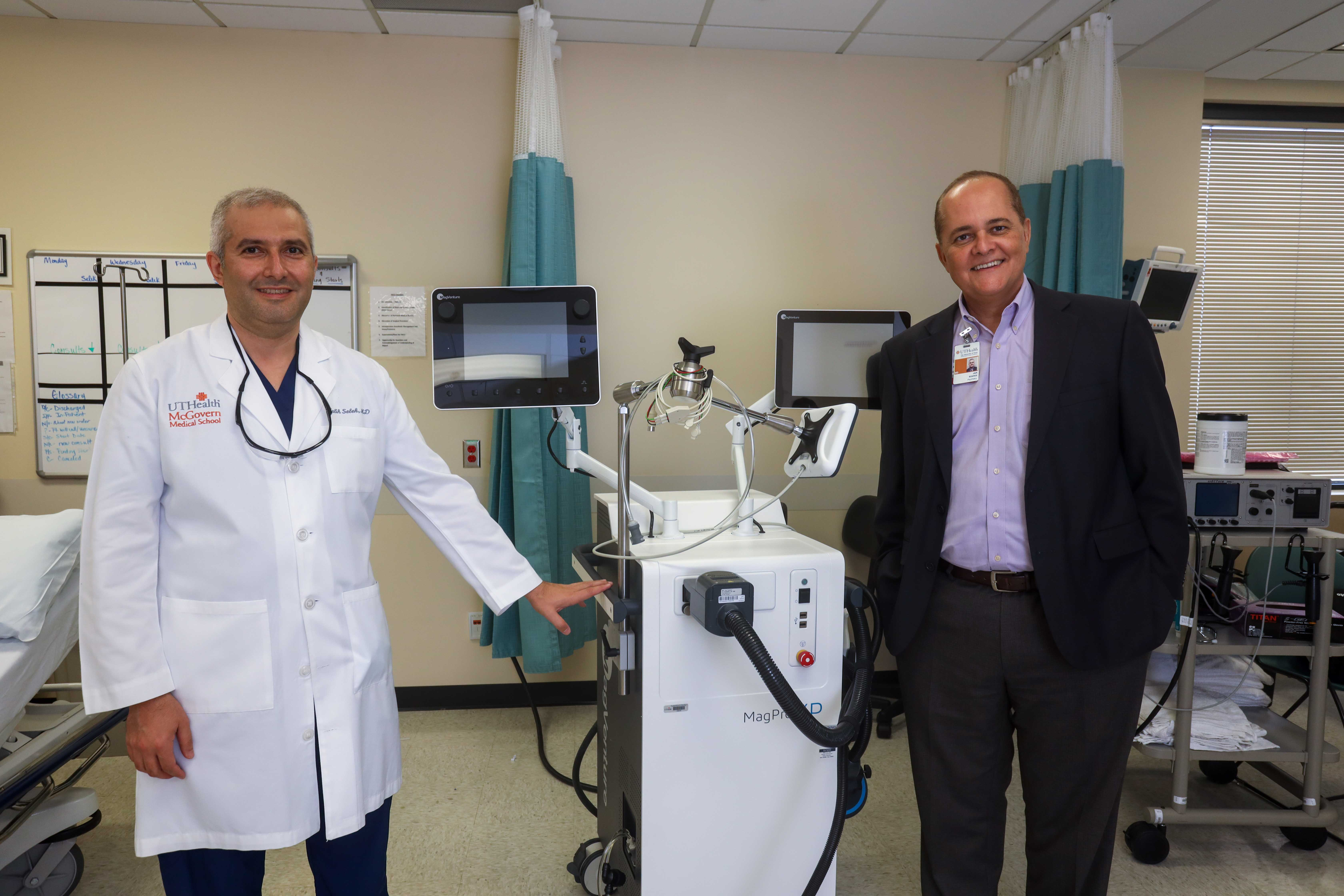Photo of Jair Soares, MD, PhD, and Salih Selek, MD