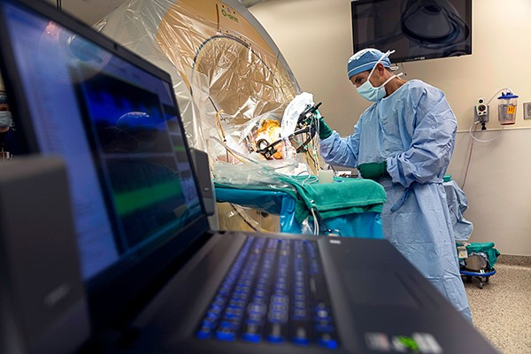 Albert Fenoy, MD, performs deep brain stimulation surgery (DBS) at Memorial Hermann-Texas Medical Center. He is now leading a new research study on DBS. (Photo by Memorial Hermann)