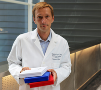 Photograph of researcher Mikhail Kolonin, PhD, who led a study showing a link among aging, obesity, and metabolic disease. Photo credit is UTHealth.