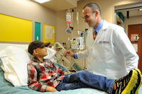 UTHealth neurosurgeon David Sandberg, MD, is leading a clinical trial investigating a new formulation of panobinostat for malignant pediatric brain tumors. (Photo by Children's Memorial Hermann Hospital)