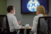 Photo of Scott Lane, PhD, and Joy Schmitz, PhD, of the Faillace Department of Psychiatry and Behavioral Sciences at UTHealth, are part of the Center for Neurobehavioral Research on Addiction.