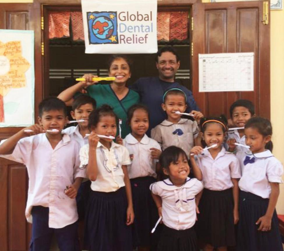 Drs. Darshani and Sanjeev Khosla of Katy volunteered with Global Dental Relief in Cambodia in February 2017.