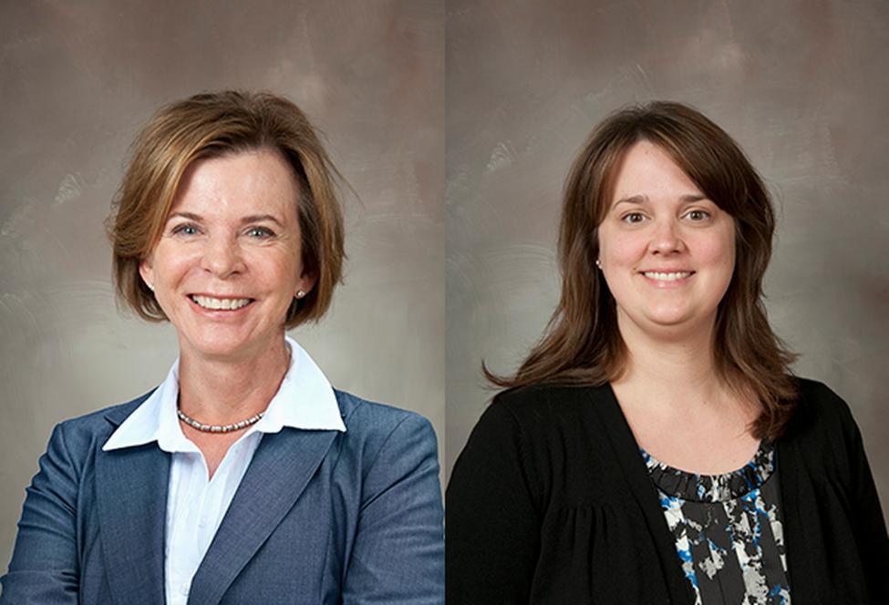 Susan Landry, PhD, and April Crawford, PhD. (Photo by: UTHealth).