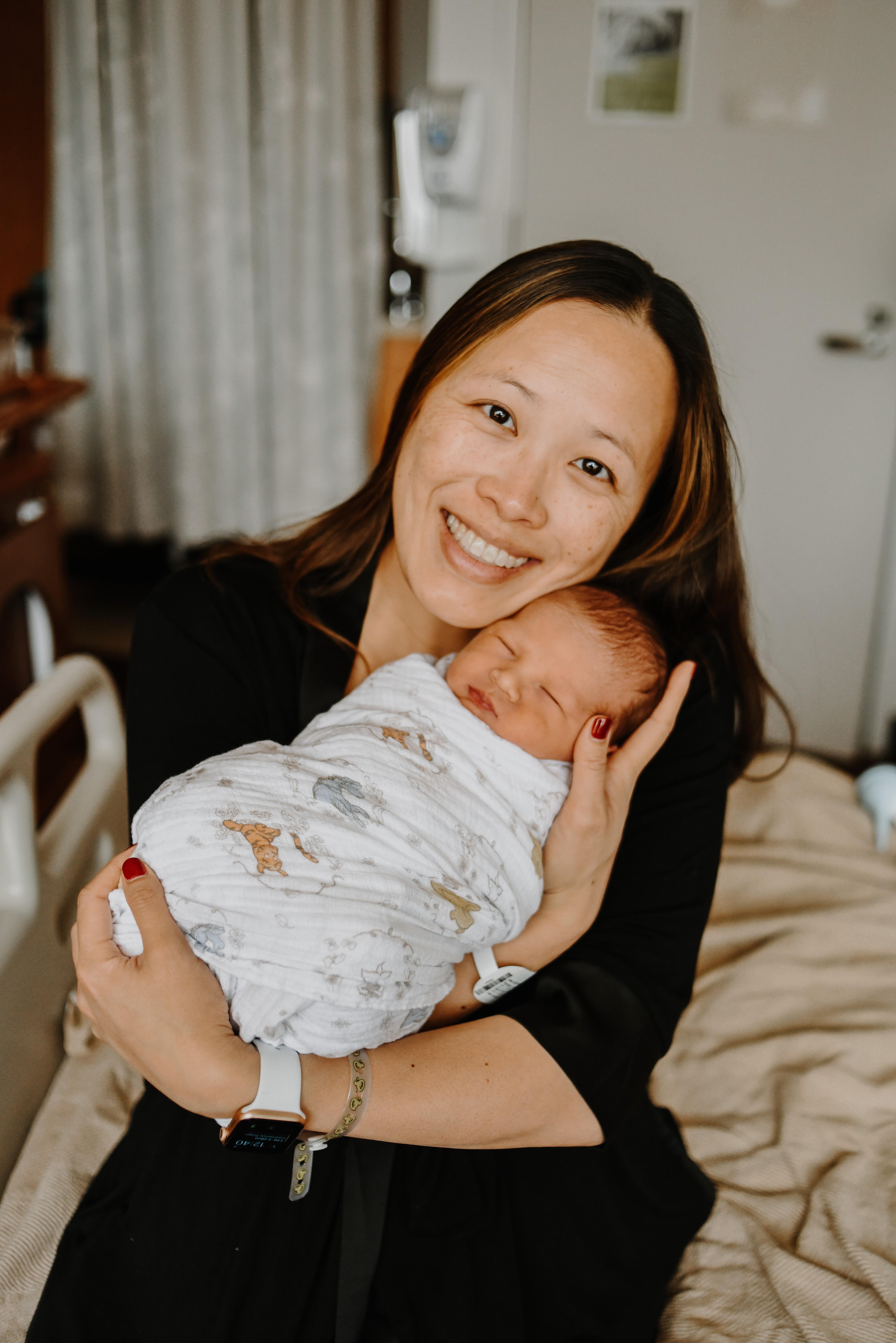Jacqueline Parchem, MD, with her son Darren.