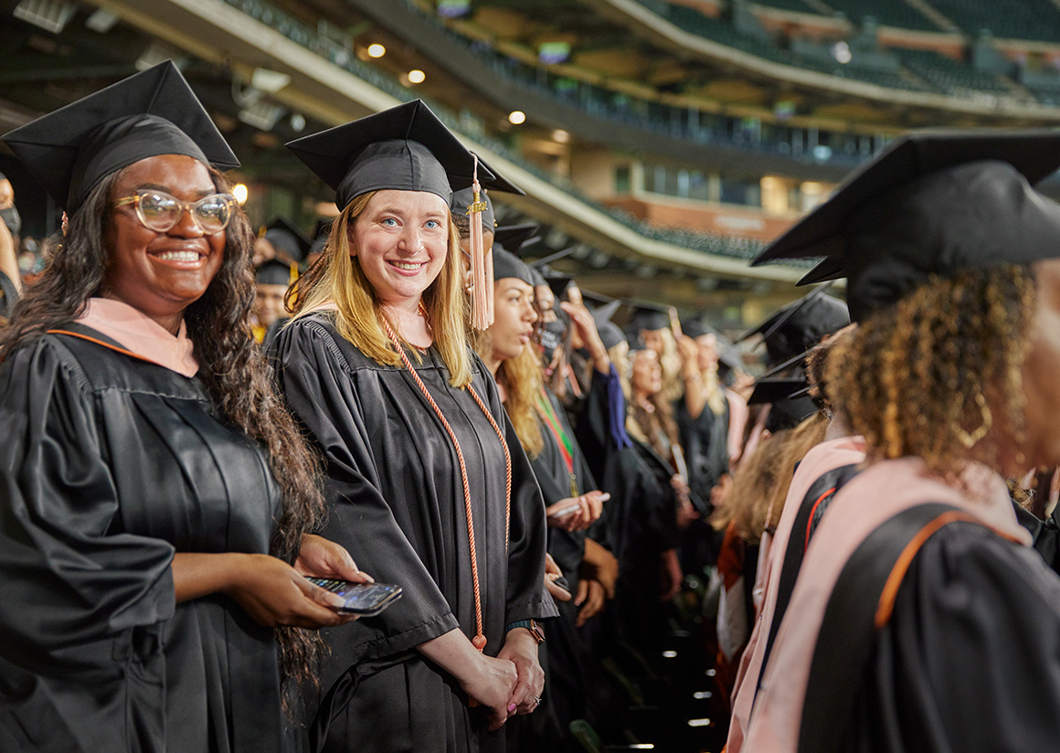 Diverse group of students graduating from UTHealth Houston