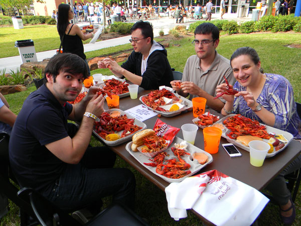 Students at 2013 Crawfish Boil