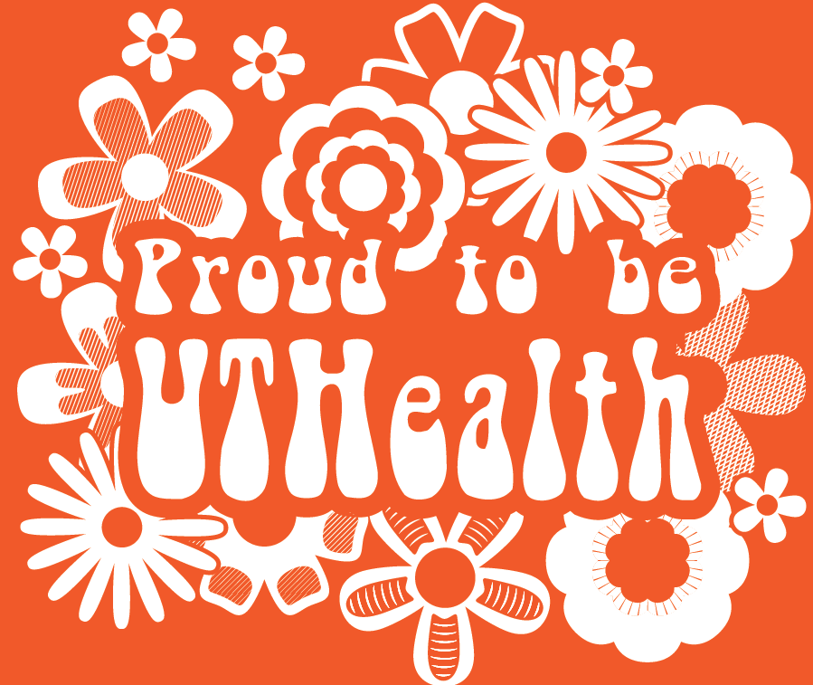 Proud to be UTHealth graphic orange logo