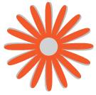 graphic orange flower