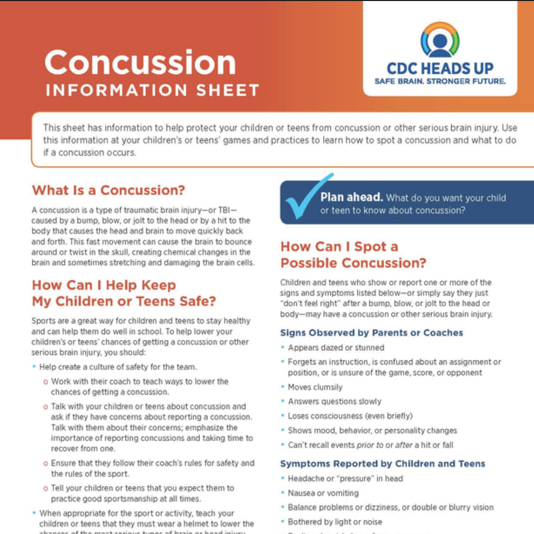Concussion Information Sheet