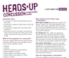Heads Up Concussion: A Concussion Fact Sheet for High School Sports