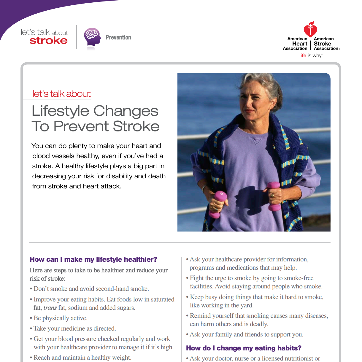 Lifestyle Changes to Prevent Stroke